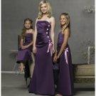 Column/Sheath Strapless Floor Length Satin Bridesmaid Dresses for brides new style(BD0280)