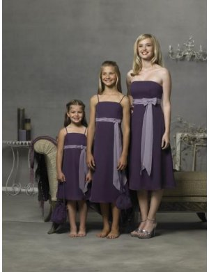 Empire Strapless knee-length Chiffon Bridesmaid Dresses for brides new style(BD0289)