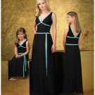 A-Line/Princess V-neck Floor-Length Satin Bridesmaid dress for brides new Style(BD0258)