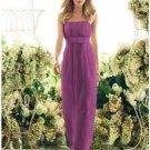 Column Strapless Floor-Length Satin Bridesmaid dress for brides new Style(BMD0041)