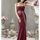 Mermaid Strapless Floor Length Satin Bridesmaid Dresses for brides new style(BMD0201)