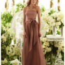 A-Line/Princess Strapless Floor-Length Satin Bridesmaid dress for brides new Style(BMD0038)