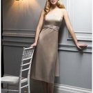 A-Line/Princess Strapless knee-length Satin Bridesmaid dress for brides new Style(BMD0053)