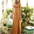 A-Line/Princess Scoop Floor-Length Satin Bridesmaid dress for brides new Style(BMD0045)