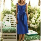 A-Line/Princess Scoop knee-length Satin Bridesmaid dress for brides new Style(BMD0044)