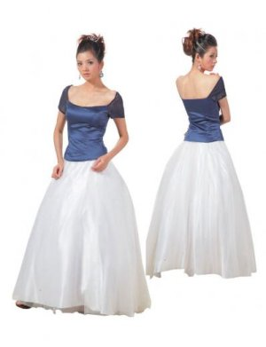 A-Line/Princess Scoop Floor Length Satin Bridesmaid Dresses for brides new style(BMD0115)