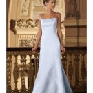 A-Line/Princess spaghetti straps Floor-Length Satin Bridesmaid dress for brides new Style(BMD0006)