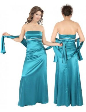 Empire Strapless Floor Length Satin Bridesmaid dress for brides new Style(BMD0089)