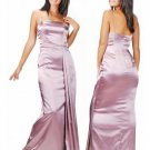 Column/Sheath spaghetti straps Floor Length Satin Bridesmaid dress for brides new Style(BMD0092)