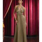 A-Line/Princess Halter Top Floor-Length Satin Bridesmaid dress for brides new Style(BD0052)