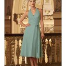 A-Line/Princess Halter Top Knee-length Satin Bridesmaid dress for brides new Style(BMD0302)