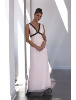 A-Line/Princess V-neck Floor-Length Satin Bridesmaid dress for brides new Style(BD0041)