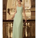 A-Line/Princess Halter Top Floor-Length Satin Bridesmaid dress for brides new Style(BD0001)