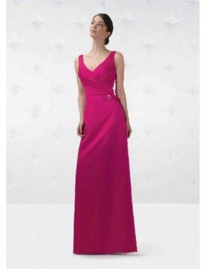Column/Sheath V-neck Floor-length Satin Bridesmaid Dresses for brides new Style(BD0144)