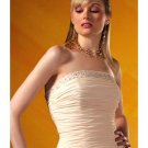 A-Line/Princess Strapless Floor Length Satin Bridesmaid Dresses for brides 2010 style(BD0093)