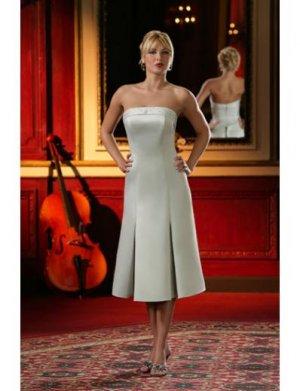 A-Line/Princess Strapless Knee-Length Satin Bridesmaid dress for brides new Style(BD0012)
