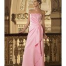 A-Line/Princess Strapless Floor-Length Satin Bridesmaid dress for brides new Style(BD0003)