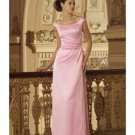 A-Line/Princess Scoop Floor-Length Satin Bridesmaid dress for brides new Style(BD0005)