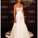 A-Line/Princess Strapless Chapel Train Satin wedding dress (SEW0012)