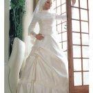 New sexy Prom/Ball/Evening Islamic Wedding Dress(MSL005) Custom Size  voile&satin