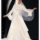 New sexy Prom/Ball/Evening Islamic Wedding Dress(MSL017) Custom Size  voile&satin