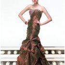 Mermaid Strapless Floor Length Taffeta Prom Dress(PDS1008) for Women's Clothing