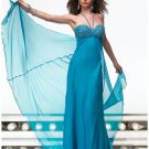 Empire Spaghetti Straps Sweeping Train Chiffion Prom Dress(PS0025) for Women's Clothing