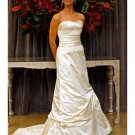 A-Line/Princess Strapless Chapel Train Taffeta wedding dress (WD010)