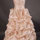 A-Line/Princess Sleeveless Sweetheart Floor Train Satin wedding dress (LF0067)