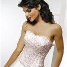 A-Line/Princess Strapless Chapel Train Satin wedding dress for brides new style(WDA1780)