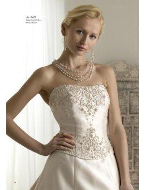 A-Line/Princess Strapless Chapel Train Satin wedding dress for brides new style(WDA1777)