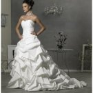 A-Line/Princess Sweetheart Chapel Train Taffeta wedding dress for brides gowns new style(WDA1081)