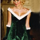 Deep V--neck velvet sexy Christmas dress (03)