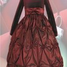 A-Line/Princess Scoop Tea-length taffeta Children's Christmas dress (04)