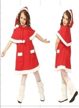 A-Line/Princess knee-length Velvet Children's Christmas dress (07)