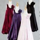 A-Line/Princess Scoop Tea-length Satin Children's Christmas dress (17)