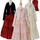 A-Line/Princess Halter Top Tea-length Taffeta Children's Christmas dress (18)