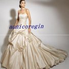 2011 champagne wedding bridal dress long train **custom