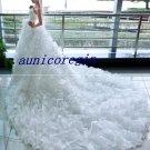 2011 new stunning white wedding evening dress bridal dresses