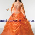 Halter Quinceanera Evening dress prom gown *free custom