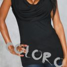 Black Sexy Women's Clothing for Clubwear Tops Blouse Free Size
