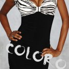 Black with zebra skin pattern Sexy Women's Clothing for Clubwear Halter Tops Blouse Free Size