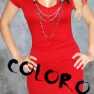 #3 Red Sexy Women's Clothing for Clubwear Halter Tops Blouse Free Size