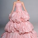 A-Line/Princess Strapless three Layered Taffeta wedding dress for brides 2010 Style(ML01)