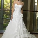 A-Line/Princess Strapless Chapel Train Taffeta wedding dress for brides 2010 Style(ML04)