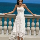 A-Line/Princess Strapless Floor-length Satin Lace Wedding dress for brides 2010 style(DEX0046)