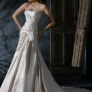 A-line/Princess Strapless Cathedral Satin wedding dress for brides 2010style(DEX0028)