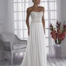 A-line/Princess Strapless Cathedral Satin wedding dress for brides 2010style(WDA034)
