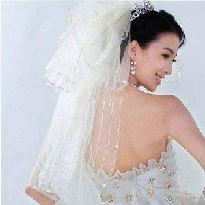 1T IVORY WHITE CHAPEL LACE MANTILLA WEDDING Bride VEIL #11
