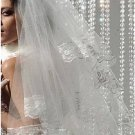 1T IVORY WHITE LACE MANTILLA WEDDING Bride VEIL #25